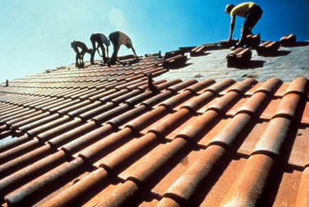 clay concrete roof