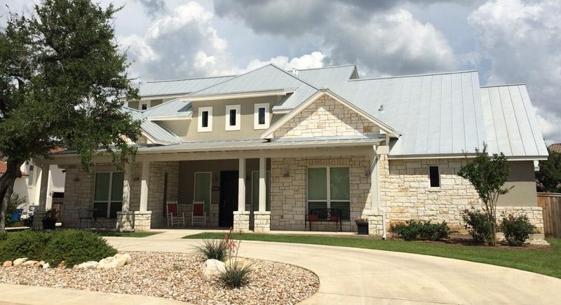 metal roof custom home builder design